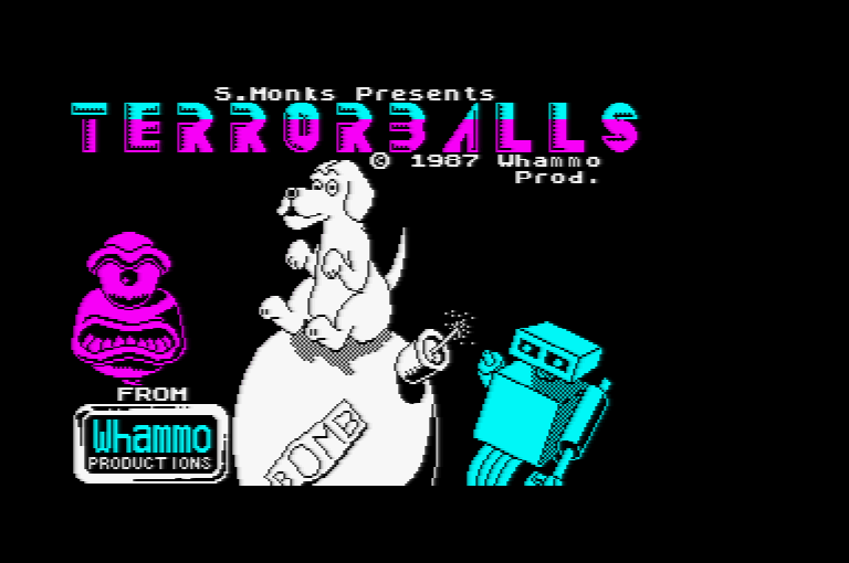 Amstrad CPC Terrorballs loading screen