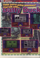 Daffy Duck preview in Crash Magazine