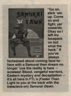 Samurai Dawn feature